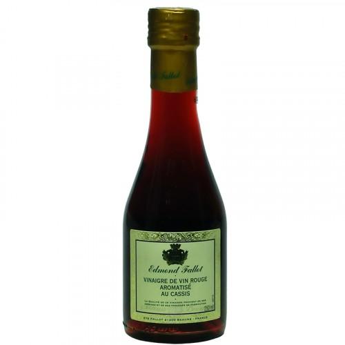 Vinaigre de vin rouge aromatisé au Cassis 250ml Fallot