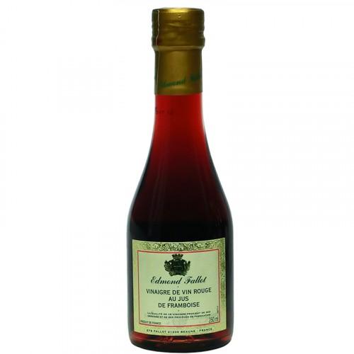Vinaigre de vin rouge au jus framboise 250ml Fallot