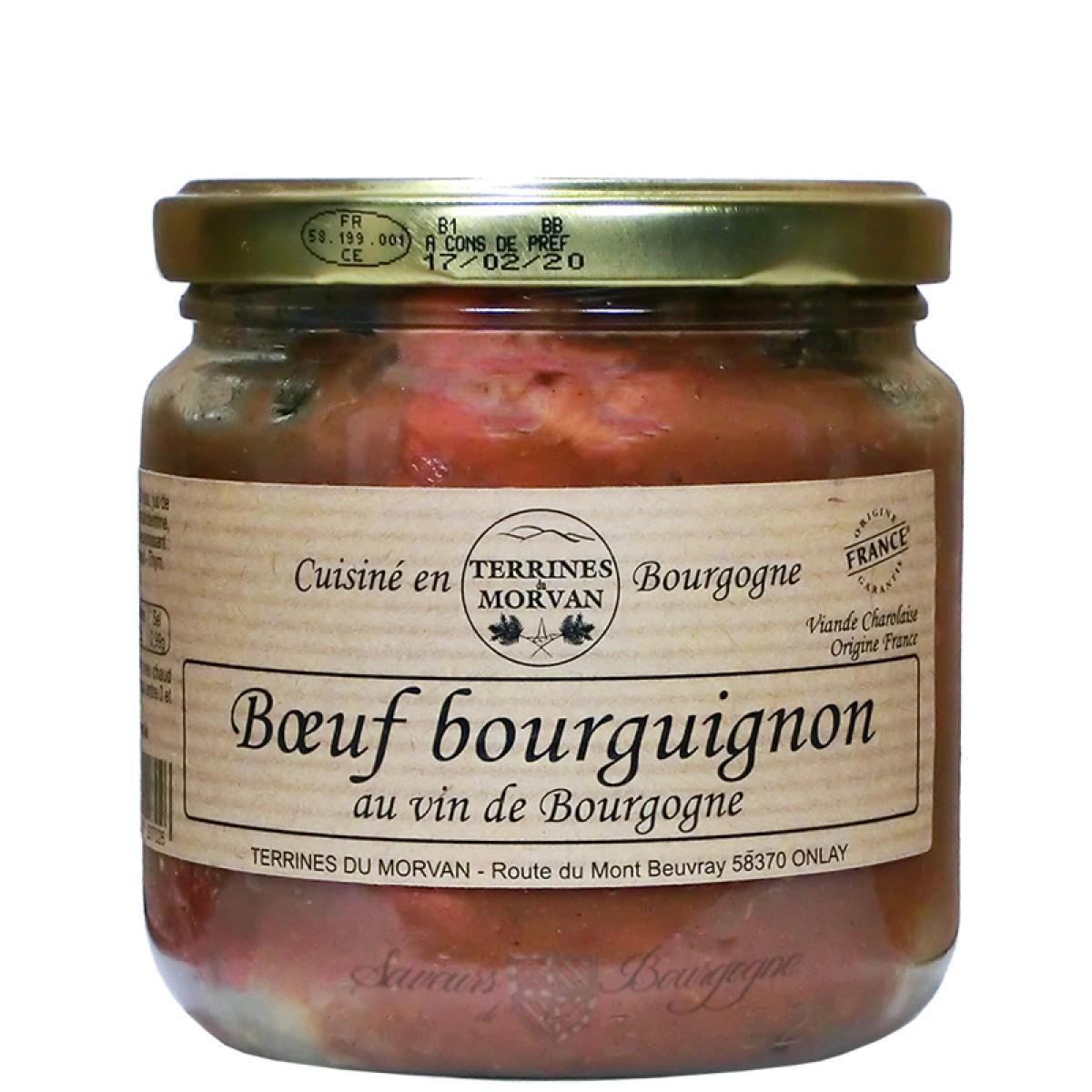 Beef Cooked In Burgundy Wine 400g Saveurs De Bourgogne Vente De Produits Du Terroir