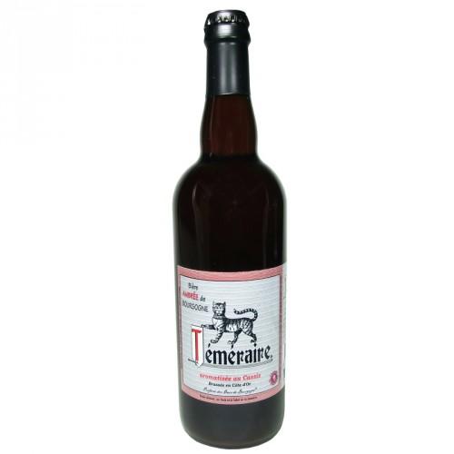 Amber blackcurrant beer Téméraire 75cl Les 3 fontaines