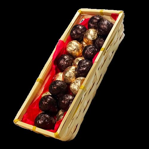 Duo d'Escargots de Bourgogne au Chocolat au lait praliné et noir praliné - Panier de 350g