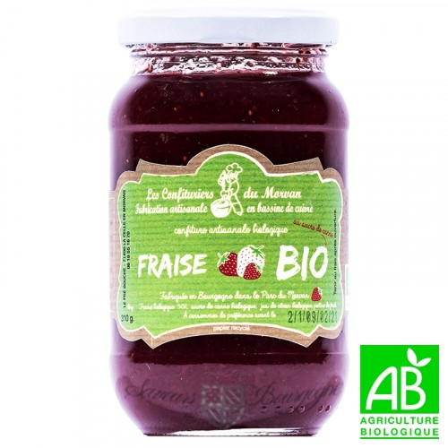 Strawberry jam organic 310g Confiturier du Morvan
