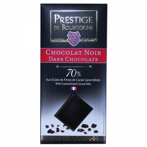 Black Chocolate 70% Cocoa nibs 100g
